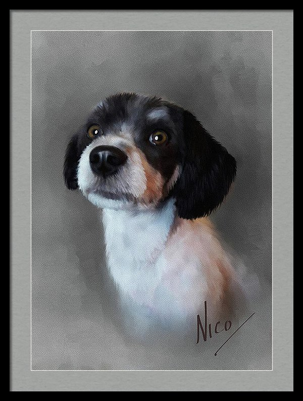 pet dog painting portrait