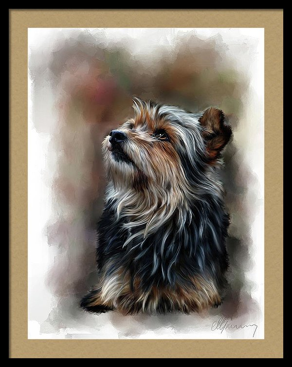 shaggy dog, digital pet paintings, portraits oil, painting