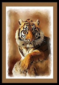 tiger painting, pet painting, oil painting, wildlife, painting